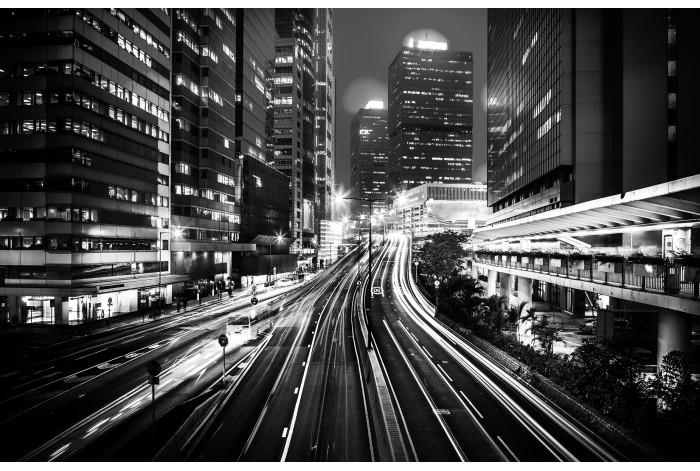 Диптих в интерьер Огни ночного города