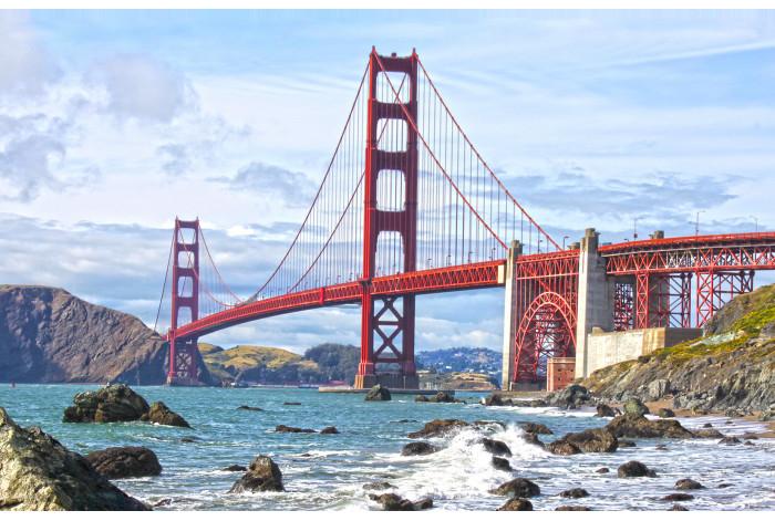 Модульная картина Золотой Мост