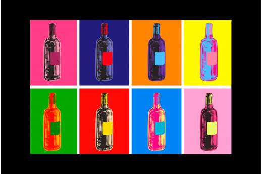 Постер Поп-арт Вино